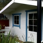 Bespoke painted wooden cabin
