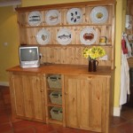 Freestanding fridge and freezer dresser unit