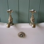 Reclaimed Victorian roll top bath and taps