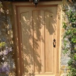 Period oak front door
