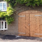 Treated softwood garage doors