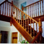 Solid mahogany stairs and spindles