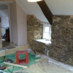 Loose plaster in master bedroom removed