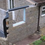 The new rear elevation was carefully matched to the existing wall