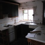 This was the kitchen after it was cleared!