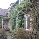 The back of the house had been completely covered by ivy which was carefully removed to reveal the original elevation