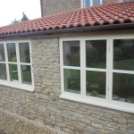 The new bespoke windows fitted and glazed with lowE sealed units