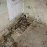 The old soil pipe had been leaking for years!