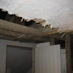 Ceilings and walls were stripped out where necessary