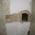 This ancient smoking oven was discovered behind the old toilet in the bathroom upstairs!