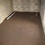 The oversite was levelled before the vapour barrier and insulation went down. This was covered with 100mm of concrete