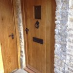 Oiled oak door and frame