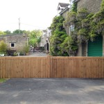 Treated softwood driveway gates