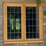 Leaded softwood window