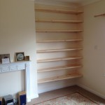 Bespoke tapered softwood shelving