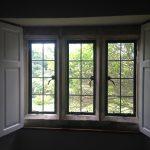Bi-fold shutters in undercoat