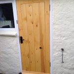 Bespoke softwood back door