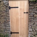 Oak barn door