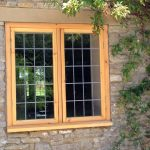 Softwood leadlight window