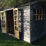 Old shed converted to summer house