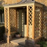 A traditional porch rebuild under dressed lead roof